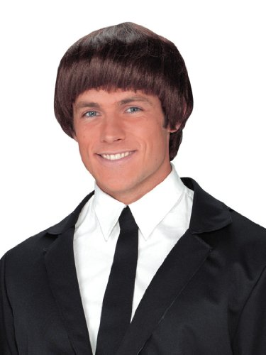 60s Band Member Brown Wig Theatre Costumes Wig