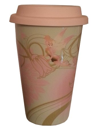 Disney Parks Tinker Bell Elegant Wild Roses Travel Mug W/ Rubber Grip - Disney Parks Exclusive & Limited Availability