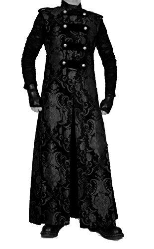 Shrine-Gothic-Victorian-Steampunk-Black-Tapestry-Hellraiser-Trench-Coat