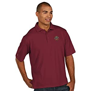 Florida State Seminoles 2013 Champions Mens Pique Xtra-Lite Polo Cabernet by Antigua