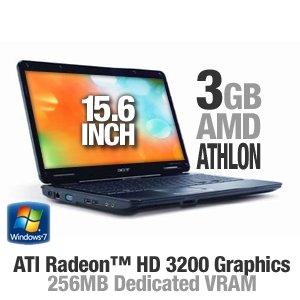"Acer Aspire AS5517-5689 15.6"" Widescreen Notebook - AMD Athlon 64 TF-20 / 3GB DDR2 / 250GB HD / DVD±RW/DVD-RAM/DVD±R / ATI Radeon HD 3200 / Windows 7 Home Premium 64-bit"