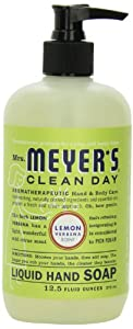 Mrs. Meyer's Clean Day Liquid Hand Soap, Lemon Verbena, 12.5 Fluid Ounce Bottles (Case of 6)