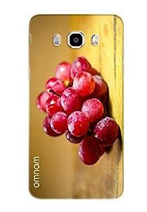 Omnam Red Grapes Fruit Printed Designer Back Cover Case For Samsung Galaxy J7 (2016)