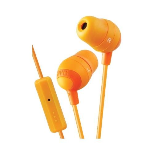Jvc Hafr37D Marshmallow Inner-Ear Earbuds With Microphone & Remote (Orange) (Jvc Hafr37D)
