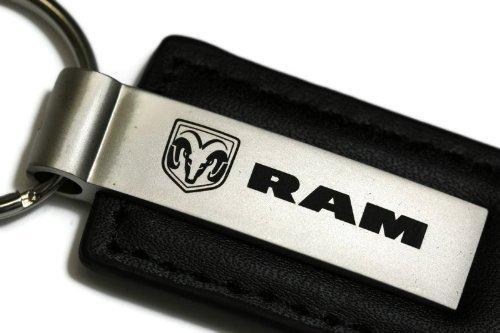 dodge-ram-schwarz-leder-schlusselanhanger-authentic-logo-schlusselanhanger-schlusselanhanger-band