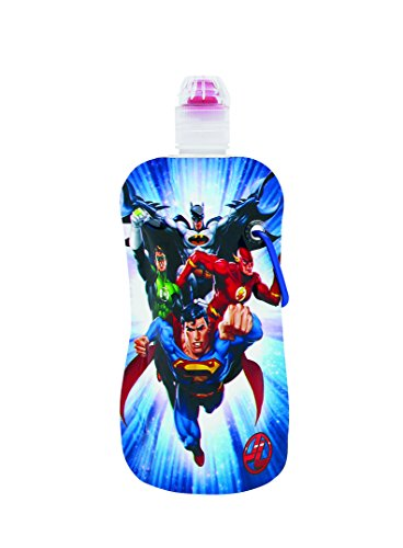 "Sharkskinzz Dc Comics ""Justice League"" 12 Oz Reusable Folding Water Bottle"