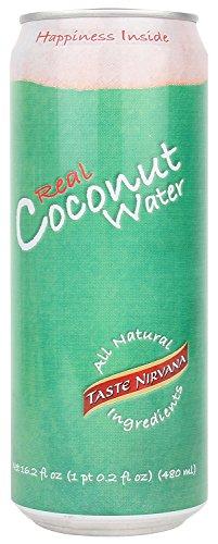 Taste Nirvana Real Coconut Water, 16.2-Ounce (Pack Of 12)