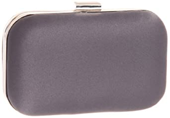 Magid Satin Box E7374 Clutch,Pewter,One Size