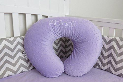 Minky Nursing Pillow Cover - Minky Feeding Pillow Cover, Infant Nursing Pillow Cover - Many colors - Pink, Blue, Purple, Yellow, Brown, Black, Red, Gray, Green