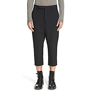 Rick Owens Drop Crotch Crop Pants Black