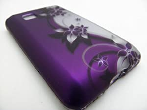 PURPLE VINES Hard Plastic Design Matte Case for LG LG 840g (StraightTalk/Net 10/Tracfone) |In Twisted Tech Packaging|