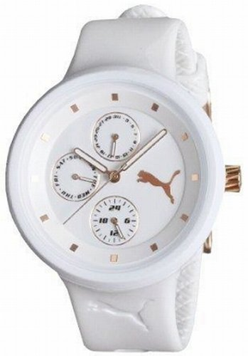 PUMA Women's PU910412001 Slick Multifunction White Watch