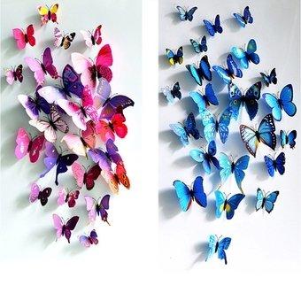 72pcs-3d-butterfly-wall-sticker-fridge-magnets-blue-hotpink