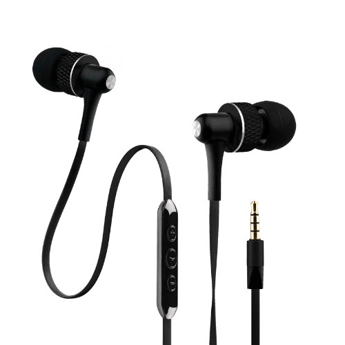 Noisehush Nx45I-12062 Handsfree Stereo 3.5Mm Headset With Mic And Audio Controls For Cell Phone And Tablet - Retail Packaging - Black