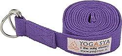 Yogasya - Yoga Belt - 8 Feet Length - Yoga Props - For Safe, Perfect & Challenging Yoga Posture - Purple