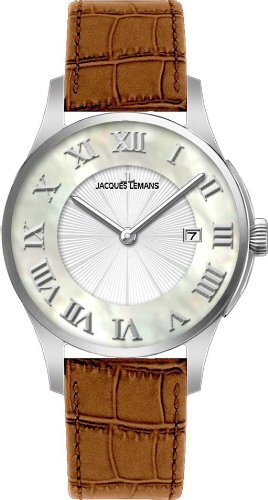 Jacques Lemans London 1-1535A Gents Brown Leather Strap Watch