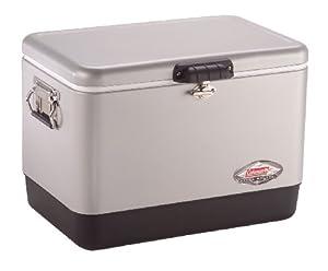 Coleman Company 54-Quart Steel Belted Cooler, Silver