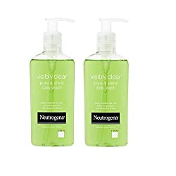 Neutrogena Visibly Clear Pore and Shine Daily Wash (200ml) 6.76 fl oz. (Pack 2)