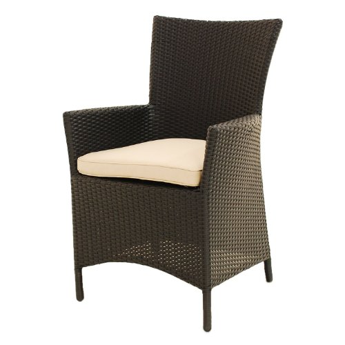 Outdoor Brown Rattan Patio Garden Furniture or Conservatory Dining Chairs