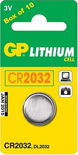 GP Lithium Battery CR2032 Blister 1 pcs, Coin Type