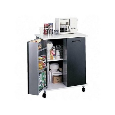 Safco Products Mobile Refreshment Stand, Black, 8963Bl