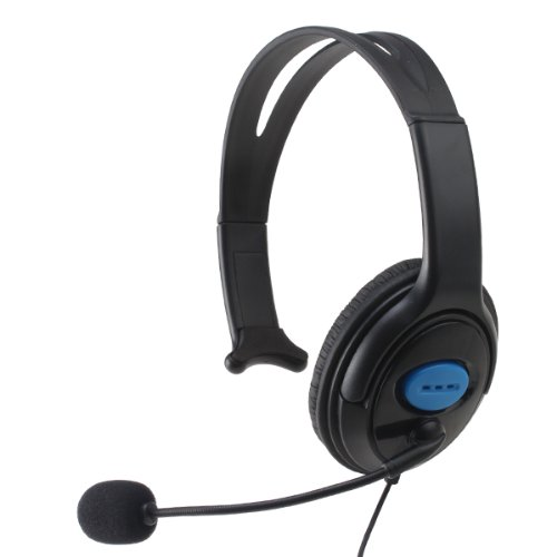 Image® Ps4 Playstation 4 Wired Chat Communication Gaming Headset Monaural Headphone With Mic