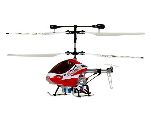 HCW 530 Aluminum Alloy 3-Channel RC Helicopter with Gyroscope Lights (Red)