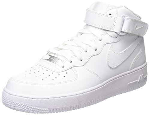 Nike Wmns Air Force 1 Mid '07 Le, Scarpe sportive, Donna, Bianco (White), 38 EU