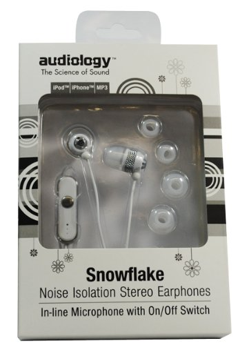 Audiology Au-148Wht-Mic In-Ear Stereo Earphones With Microphone For Mp3 Players, Ipods And Iphones, White