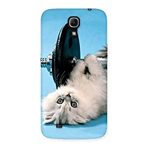 Enticing Fit Cat Multicolor Back Case Cover for Galaxy Mega 6.3