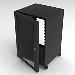 server rack schrank 6u 19 zoll tiefe computer zubeh r. Black Bedroom Furniture Sets. Home Design Ideas