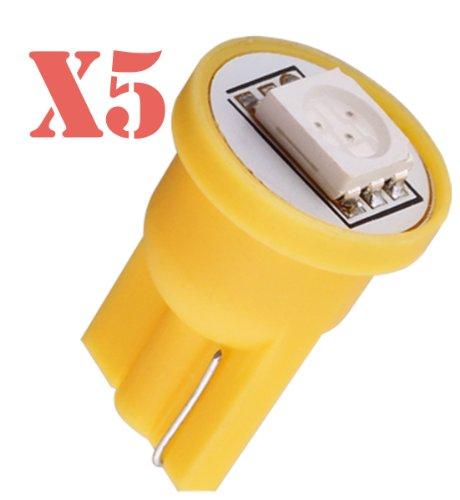 S&D Big Sale!!!5Pcs T10 1 Smd 5050 Yellow Amber License Plate 194 W5W Led Car Light Bulb Lamp
