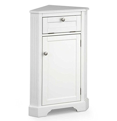Weatherby Bathroom Corner Storage Cabinet (White)