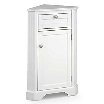 Weatherby Bathroom Corner Storage Cabinet (White)