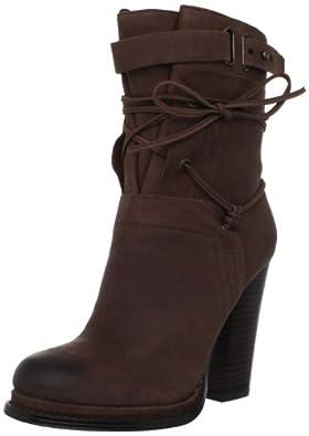 (速抢)玖熙 Nine West Kelsbelle Ankle女士时尚都市 舒适真皮短靴 黑$79.99曲线未更