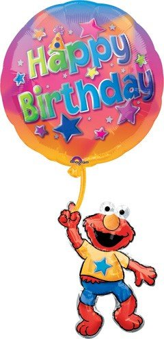 "39"" Happy Birthday Elmo Balloon - 1"