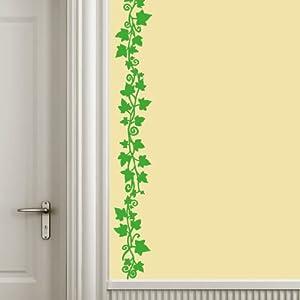 Sticasa stencil adesivo edera cm 130 x 12 verde for Stencil parete cucina