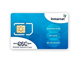 Inmarsat IsatPhone Pro and IsatPhone 2 Prepaid SIM Card with 100 airtime units (76.8 Minutes*) includes FREE SIM card From Orbital Satcom
