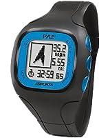 Cardiofréquencemètre, Montre GPS Pyle avec Transmission codée de la Fréquence Cardiaque, Ceinture Pectorale, Connexion USB pour PC (Couleur: Bleu)