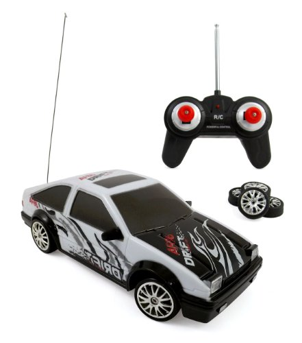 Liberty Imports Super Fast Drift Legend AE86 R/C Sports Car Remote Control Drifting Race Car 1:24 + Headlights, Backlights, Side Lights + 2 Sets of Tires (Drifting Rc Car compare prices)