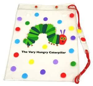 Very Hungry Caterpillar Swimbag,caterpillar Picture, Spots, White,side Drawstring,waterproof