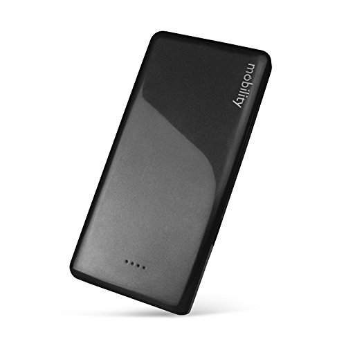 Mobility 10,000 mAh Power Bank (black) w/ Dual USB Output - Portable Charger/Lithium Polymer Battery Backup Pack Designed to Charge Cell Phones, Tablets & Mobile Devices While Traveling or On-the-Go (To Mobile Phones compare prices)