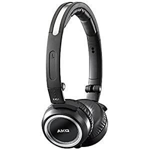 AKG K451 High-Performance Foldable Mini Headset with In-Line Remote and Mic - Black