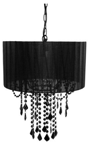 Buy Bargain Tadpoles One Bulb Shaded Chandelier, Black