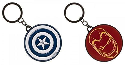 Marvel Captain America Civil War Double Sided Logo Enamel Filled Portachiavi
