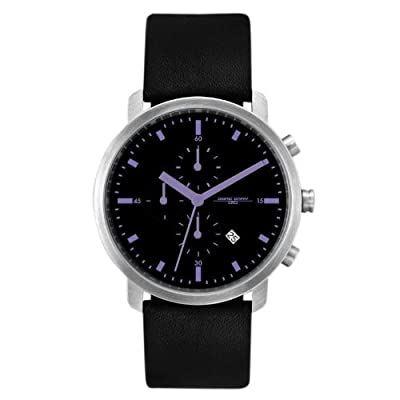 Jorg Gray 1460 Chronograph - Stainless Steel - Purple Accents - Leather Strap