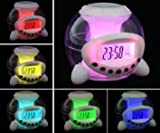 HawksTech Light Cube Digital LED Colour Changing Alarm Clock with Natural Sounds