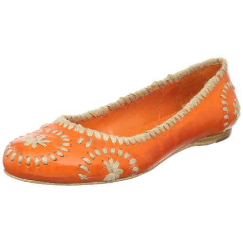 Jack Rogers Women's Slim Jute Flat,Orange,9.5 M US