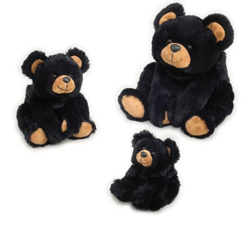 Black Teddy Bear - Baby Smokey Black Bear - 12