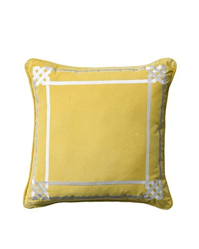 Happy Chic by Jonathan Adler Lola Border Pillow, Yellow